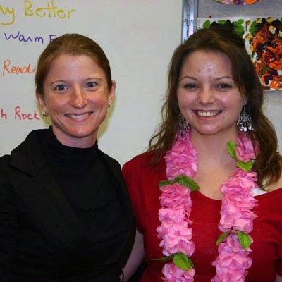 Patricia Leonard (right)